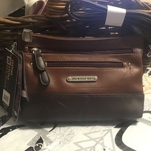 Stone Mountain Leather NANCY Crossbody 3 Bagger